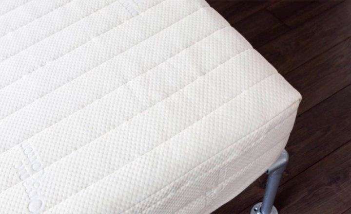 Shows how the fitzwilliam natural latex mattress has multiple density's